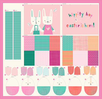 Easter Egg Bag Panel