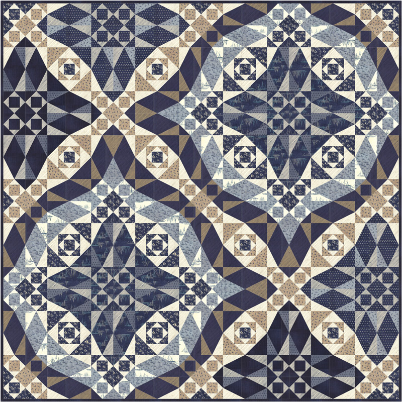 Oct/19 - Ebb & Flow Quilt Kit