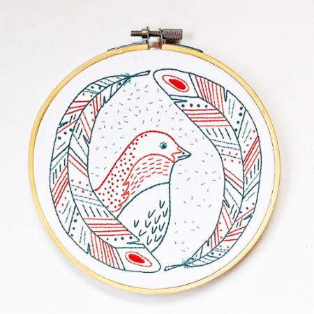 Embroidery Kit Bird Of A Feather