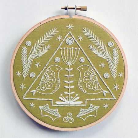 Embroidery Kit Folk Holiday