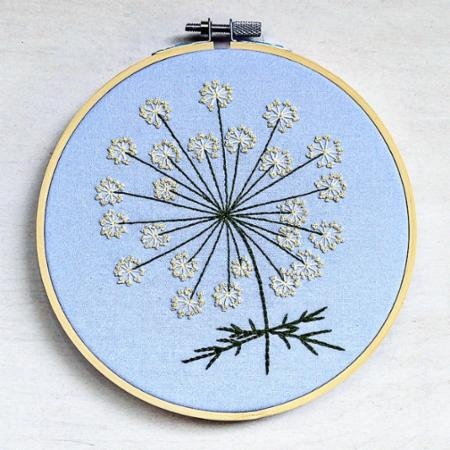 Embroidery Kit Queen Anne's Lace