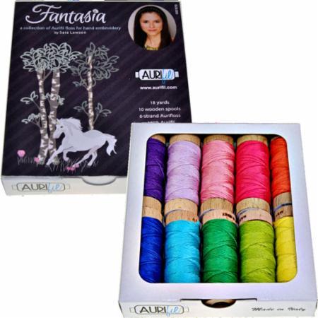 Fantasia Floss Coll Sara Lawson Aurifil 10 Small Spools