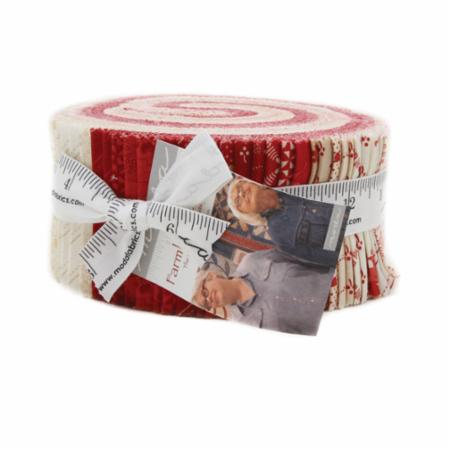 Moda Jelly Roll - Farmhouse Reds by Minick & Simpson
