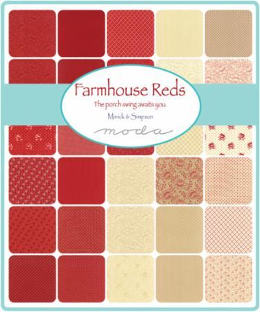 Moda Charm Pack - Farmhouse Reds by Minick & Simpson