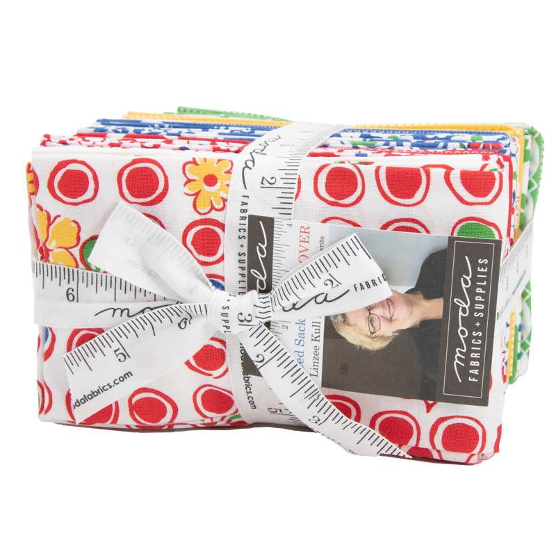 Moda Fat Eighth Bundle - Feed Sacks Red Rover by Linzee Kull McCray