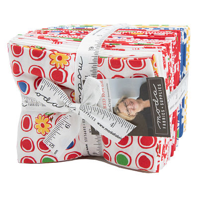 Moda Fat Quarter Bundle - Feed Sacks Red Rover by Linzee Kull McCray