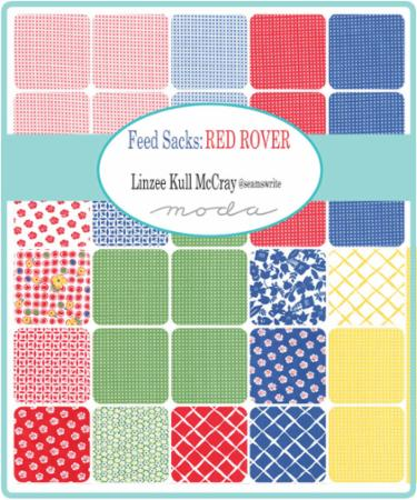 Moda Mini Charm - Feed Sacks Red Rover by Linzee Kull McCray