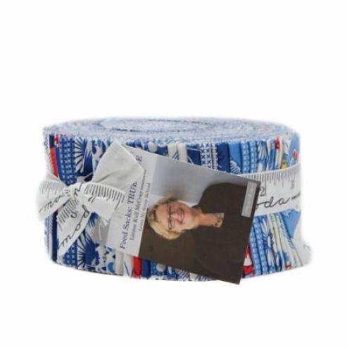 Moda Jelly Roll - Feed Sacks True Blue by Linzee Kull McCray