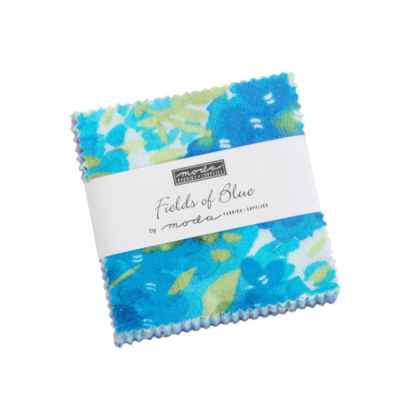 Moda Mini Charm - Fields Of Blue by Moda