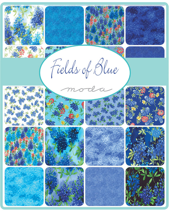 Dec/19 - Fields Of Blue Charm Pack