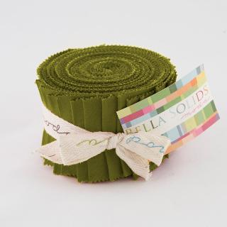 Solids Junior Jelly Roll - Fig Tree Olive 9900 69