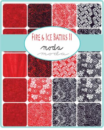 Moda Fat Quarter Bundle - Fire & Ice Batiks II by Moda