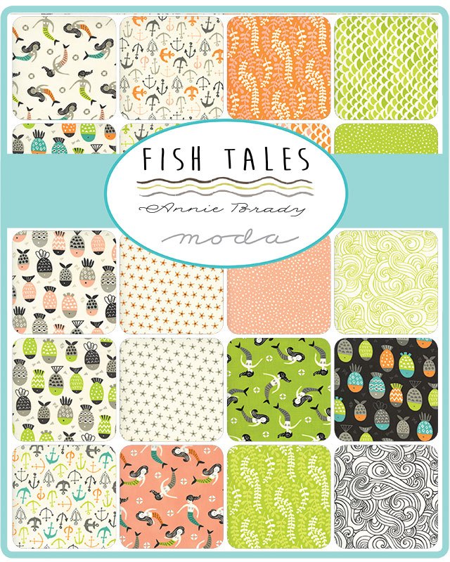 Moda Jelly Roll - Fish Tales by Annie Brady