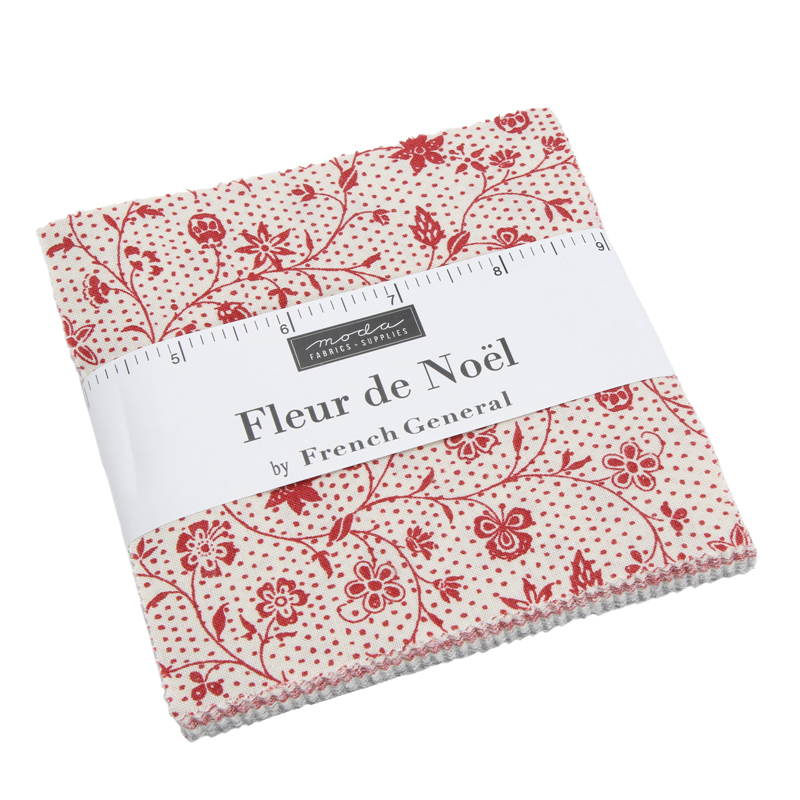 Moda Charm Pack - Fleur De Noel by French General