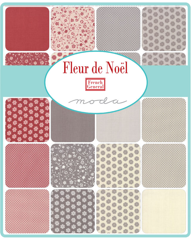 Moda Fat Eighth Bundle - Fleur De Noel by French General