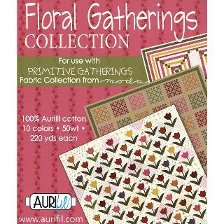 Floral Gatherings 50wt Aurifil 10 Spools
