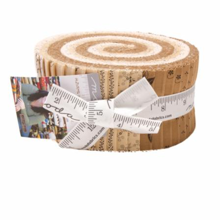 Moda Jelly Roll - Flower Garden BACKGROUNDS by Primitive Gatherings