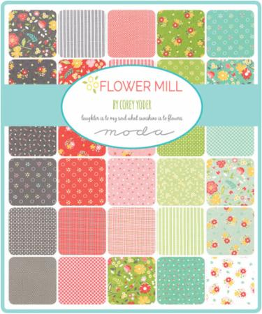 Moda Fat Quarter Bundle - Flower Mill by Corey Yoder