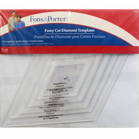 Fussy Cut Diamond Templates by Fons & Porter