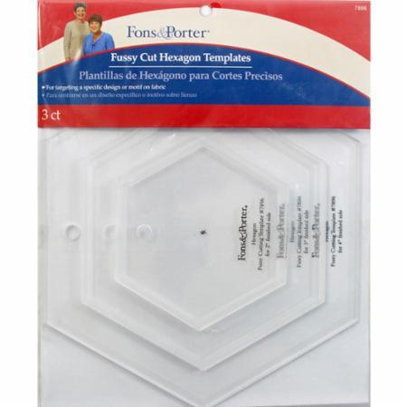 Fussy Cut Hexagon Templates by Fons & Porter