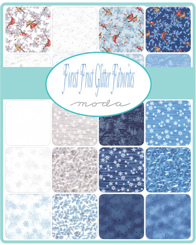 Moda Jelly Roll - Forest Frost Glitter Favorites by Moda