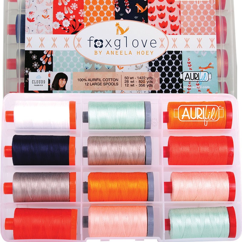 Foxglove By Aneela Hoey Aurifil Large Spools