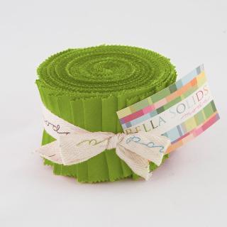 Moda Bella Solids Junior Jelly Roll - Fresh Grass 9900 228