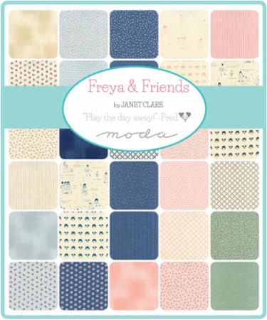 Moda Fat Eighth Bundle - Freya Friends by Janet Clare