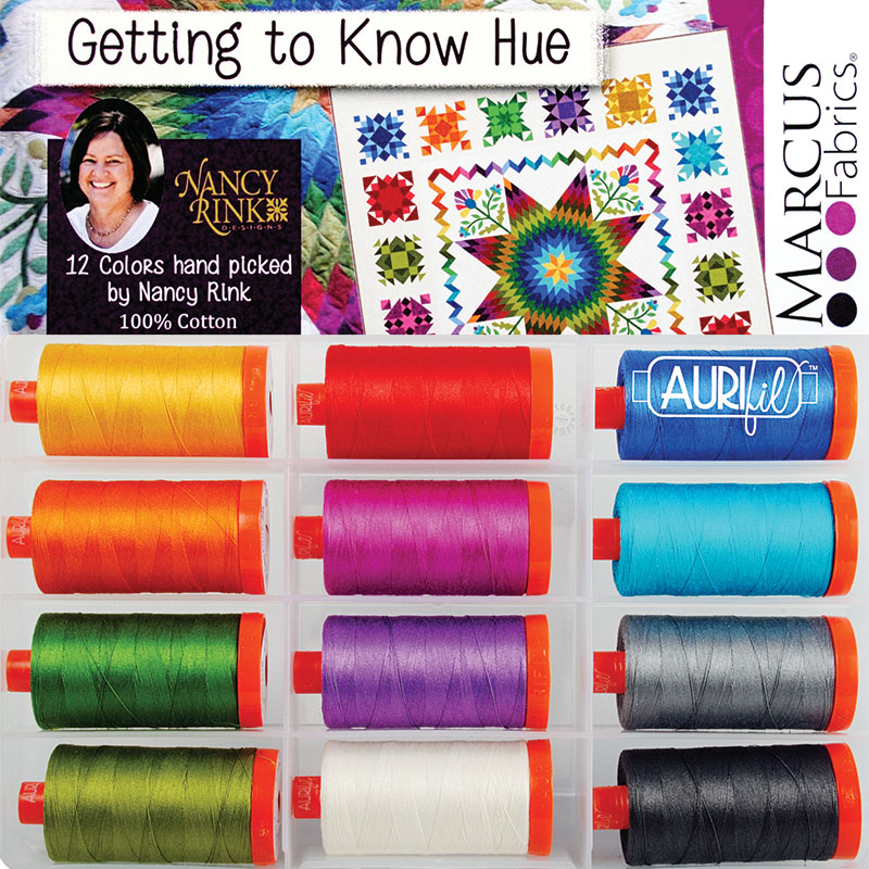 Getting To Know Hue 50wt Aurifil Large Spools