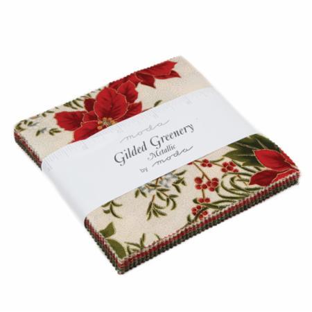 Moda Charm Pack - Gilded Greenery Metallics by Moda