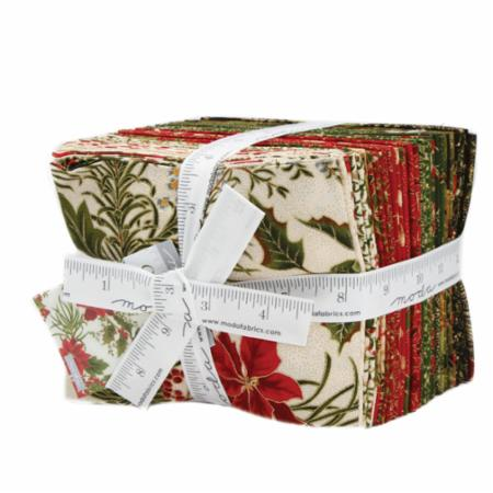 Moda Fat Quarter Bundle - Gilded Greenery Metallics by Moda