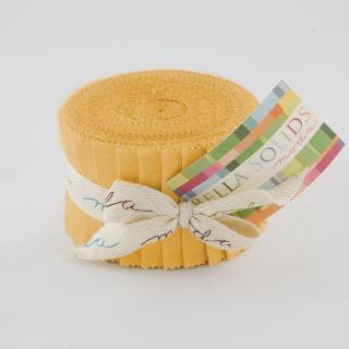 Moda Bella Solids Junior Jelly Roll - Golden Wheat 9900 103