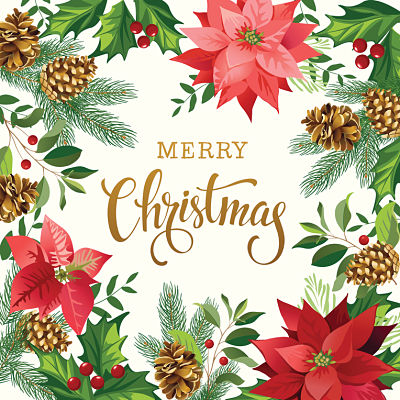 Moda Panel - Gradients Holiday Panel White Merry Christmas
