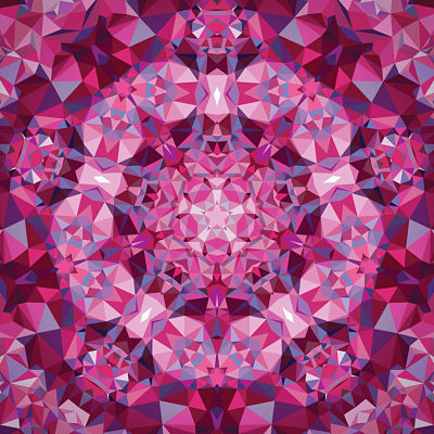Moda Panel - Gradients Kaleidoscope Pink Flower