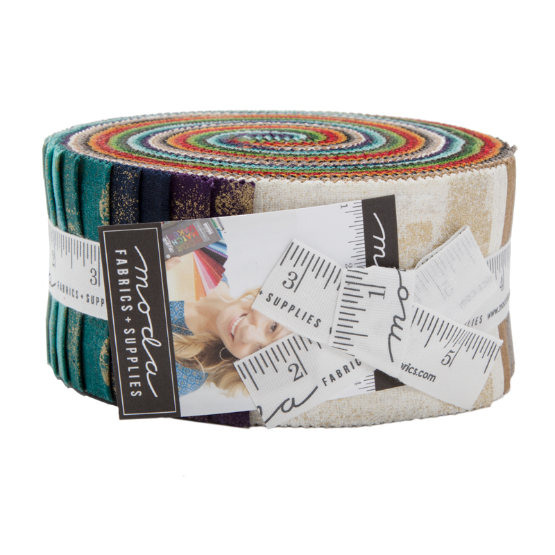 Moda Jelly Roll - Grunge Metallics by Basic Grey