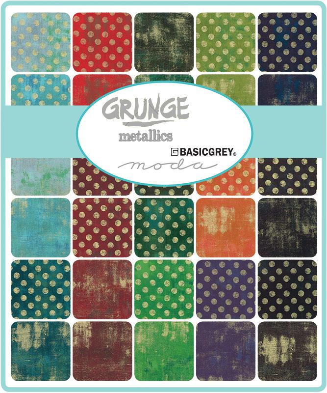 June/19 - Grunge Metallics Charm Pack