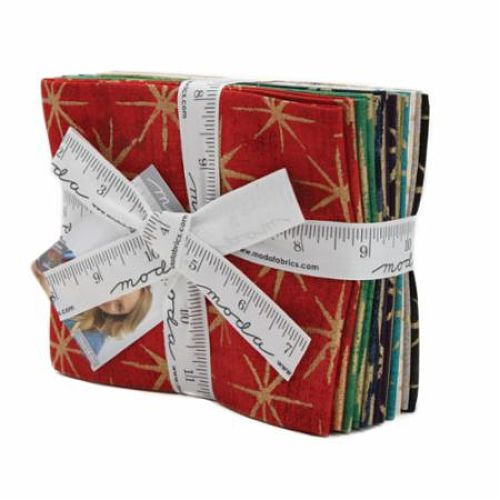 Moda Fat Quarter Bundle - Grunge Seeing Stars METALLICS by Basic Grey