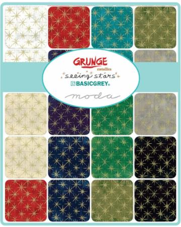Moda Charm Pack - Grunge Seeing Stars Metallics by Basic Grey