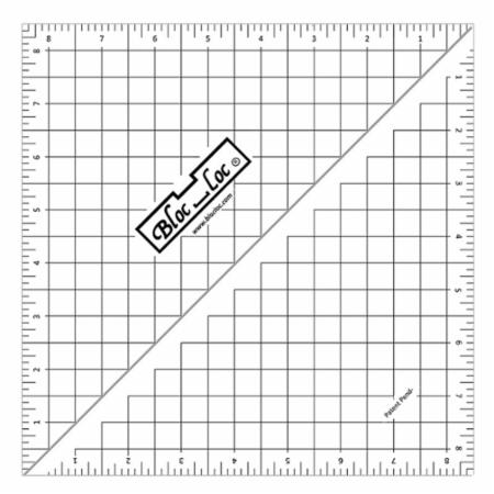 Half Square Triangle Ruler 8.5 Inch
