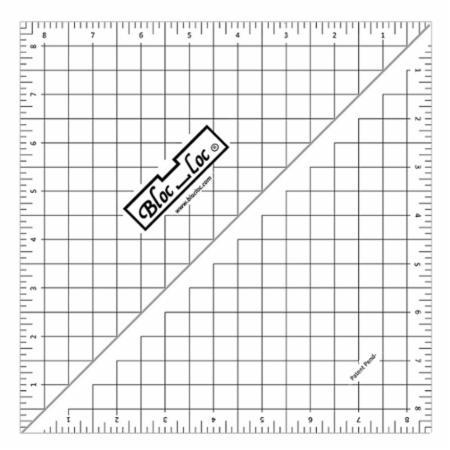 Half Square Triangle Ruler 8.5 Inch