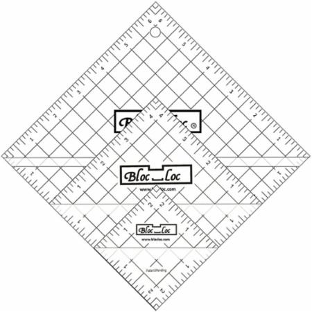 Half Square Triangle Ruler Set Number 2