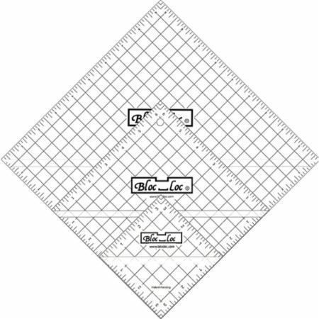Half Square Triangle Ruler Set Number 7