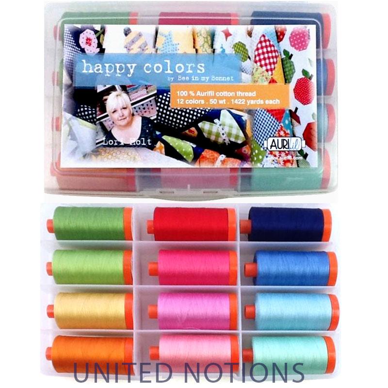 Happy Color By Lori Holt Aurifil Large Spools