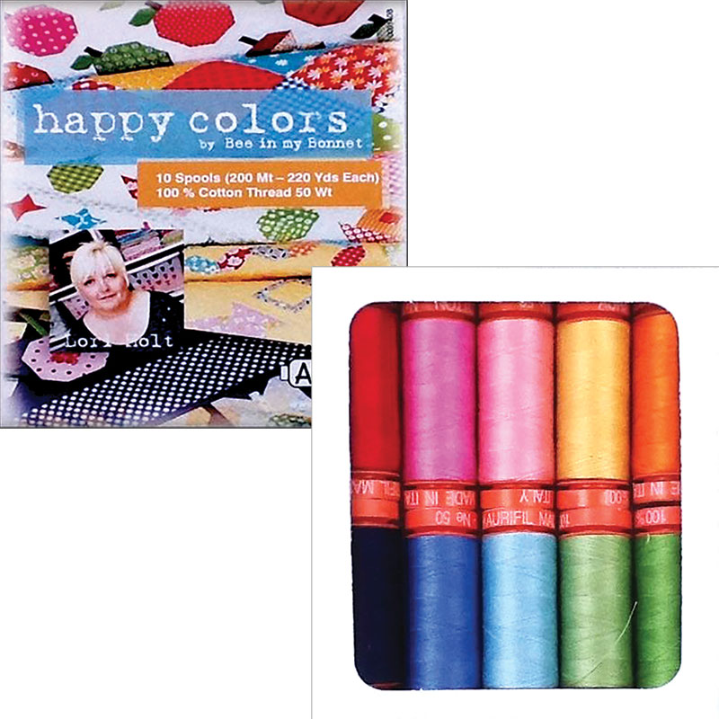 Happy Color By Lori Holt Aurifil Small Spools