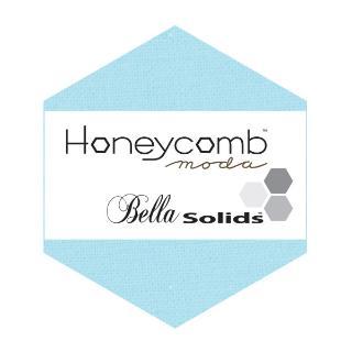 Moda Honey Comb - Bella Solids Egg Blue