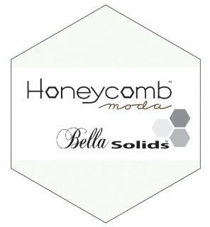 Moda Honey Comb - Bella Solids White
