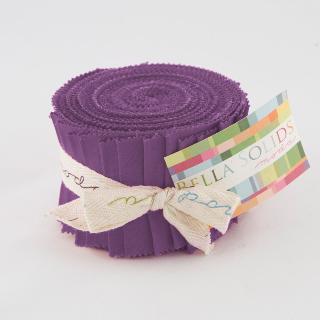 Moda Bella Solids Junior Jelly Roll - Hyacinth 9900 93