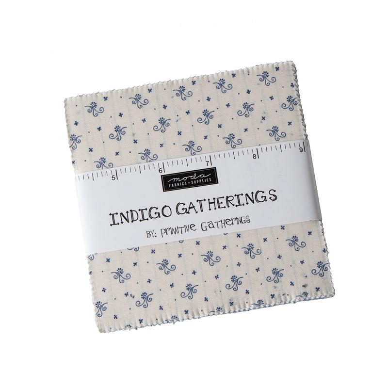 Moda Charm Pack - Indigo Gatherings by Primitive Gatherings