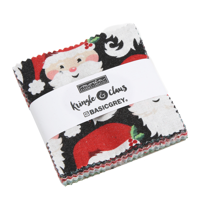 Moda Mini Charm - Kringle & Claus by Basic Grey