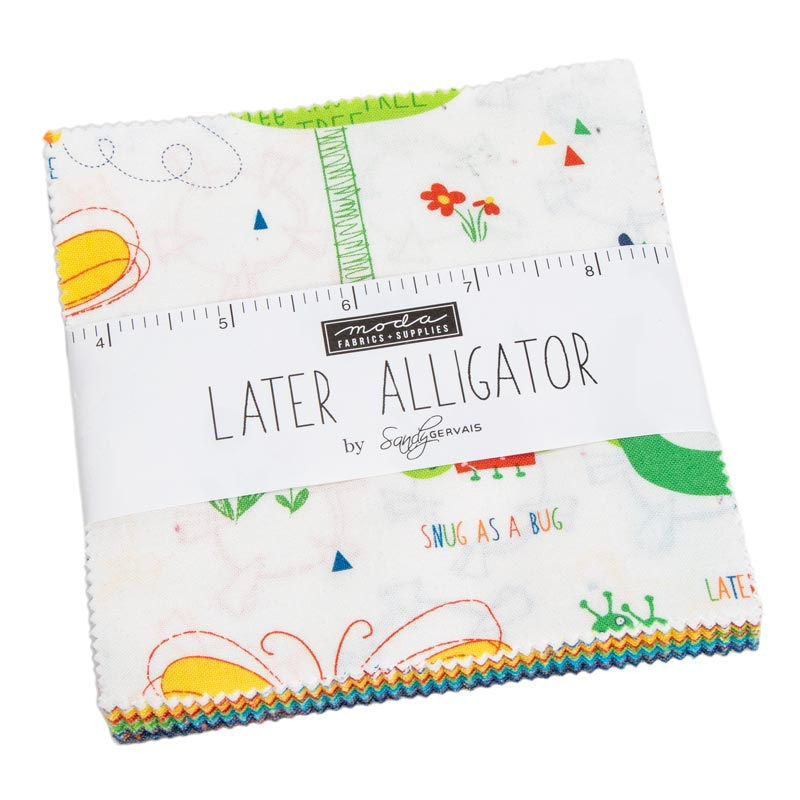 Moda Charm Pack - Later Alligator by Sandy Gervais